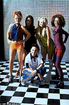 Spice Girls Ginger, Posh, Sporty, Baby and Scary are The  in Spice World
