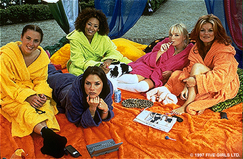 Spice Girls Posh, Sporty, Scary, Ginger and Baby Spice are The  in Spice World