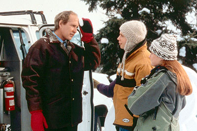 Chevy Chase , Mark Webber and Schuyler Fisk in Paramount's Snow Day - 2000