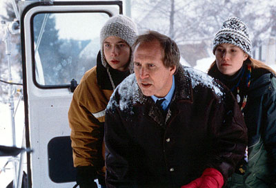 Chevy Chase Mark Webber,  and Schuyler Fisk in Paramount's Snow Day - 2000