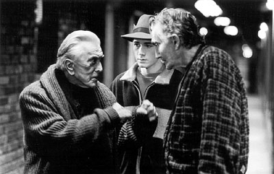 Val Bisoglio Kirk Douglas, Corbin Allred and  in Miramax's Diamonds - 2000