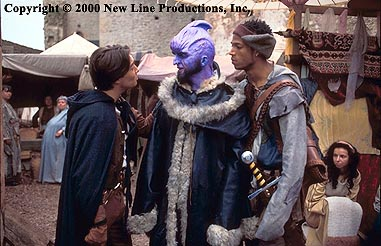 Marlon Wayans Ridley (Justin Whalin) and Snails () meet a fantastical purple being of myth in New Line's Dungeons and Dragons - 2000