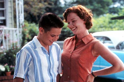 Ryan Merriman  and Gretchen Mol in Sony Pictures Classics' Just Looking - 2000