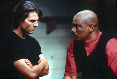 Mission: Impossible II Tom Cruise and Ving Rhames in Paramount's Mission Impossible 2 - 2000