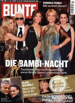 Sylvie van der Vaart - Bunte Magazine Cover [Germany] (4 December 2008)