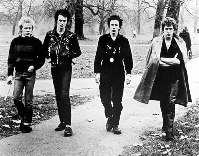 Steve Jones The Sex Pistols - Paul Cook, Sid Vicious, Johnny Rotten and  in Fine Line's The Filth And The Fury - 2000