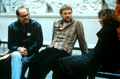 Jane Horrocks Director David Kane, David Morrissey and  on the set of United Artists' Born Romantic - 2001
