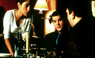 Summer Phoenix , Mike McGlone and Alex Corrado in Access Motion Picture Group's Dinner Rush - 2001