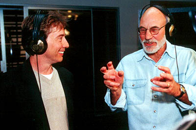Martin Short  is the voice of Ooblar and Patrick Stewart is the voice of King Goobot in Jimmy Neutron: Boy Genius - 2001