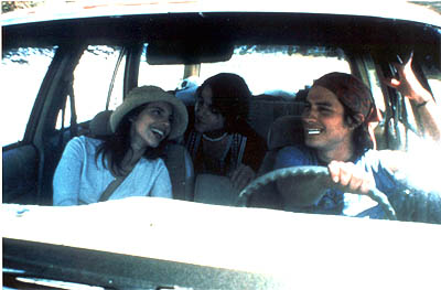 Maribel Verdú Maribel Verdu, Diego Luna and Gael Garcia Bernal in IFC Films' Y Tu Mama Tambien - 2002