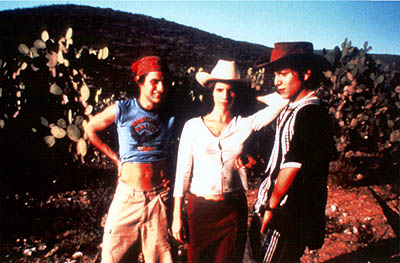 Maribel Verdú Gael Garcia Bernal, Maribel Verdu and Diego Luna in IFC Films' Y Tu Mama Tambien - 2002