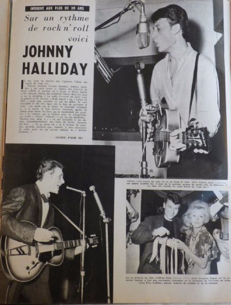 Johnny Hallyday - Festival Magazine Pictorial [France] (25 July 1961)