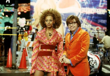 Austin Powers in Goldmember Beyonce Knowles and Mike Myers in New Line's  - 2002