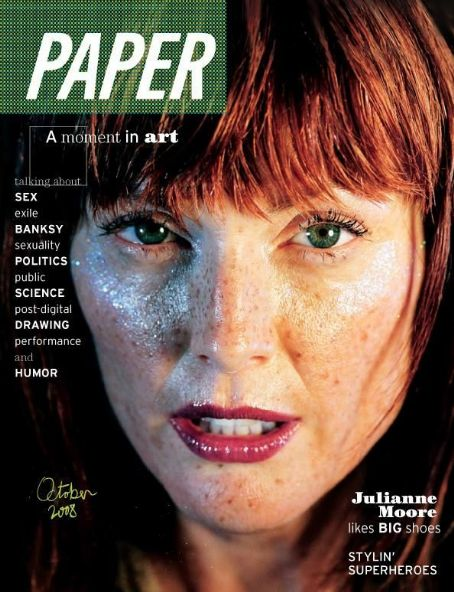 Julianne Moore - Paper Magazine Cover [United States] (October 2008)