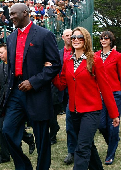 Michael Jordan with his girlfriend Yvette Prieto