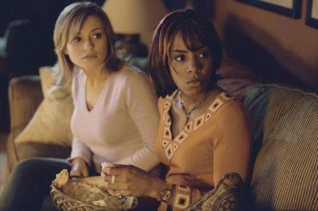 "Monica Keena (left to right)  as ""Lori,"" Katharine Isabelle as ""Gibb"" and Kelly Rowland as ""Kia"" in New Line Cinema's upcoming Freddy Vs. Jason."