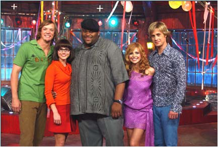 Ruben Studdard Matthew Lillard, Linda Cardellini, , Sarah Michelle Gellar and Freddie Prinze Jr. in Scooby-Doo 2: Monsters Unleashed - 2004