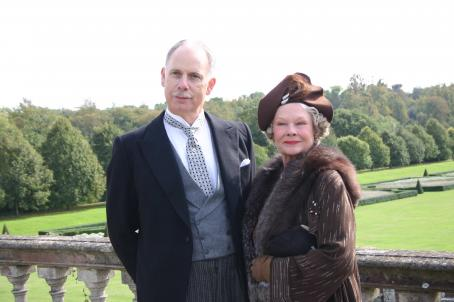 Christopher Guest  as Lord Cromer and Judi Dench as Laura Henderson in Stephen Frears' MRS. HENDERSON PRESENTS. Photo courtesy of Gabriel Crawford.