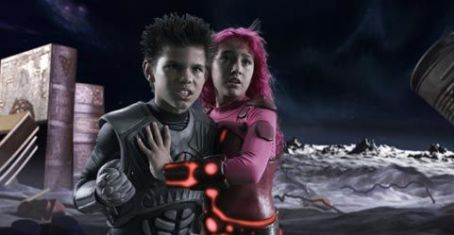 Sharkboy a scene from Dimension Films' adventure, The Adventures of Shark Boy & Lava Girl in 3-D, starring Taylor Lautner and Taylor Dooley.