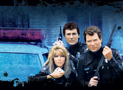 T.J. Hooker Heather Locklear (left) on the set of Sony Pictures' action, TJ Hooker: Complete First and Second Seasons - 2005