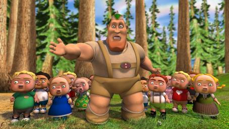 James Belushi The Woodsman voice by  in The Weinstein Company's animation, Hoodwinked - 2006.