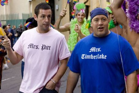 Kevin James Adam Sandler star as Chuck Ford and  as Larry Allensworth in I Now Pronounce You Chuck and Larry - 2007