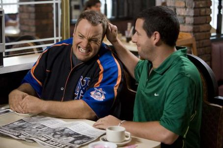 Kevin James Larry () and Chuck (Adam Sandler) in I Now Pronounce You Chuck and Larry - 2007