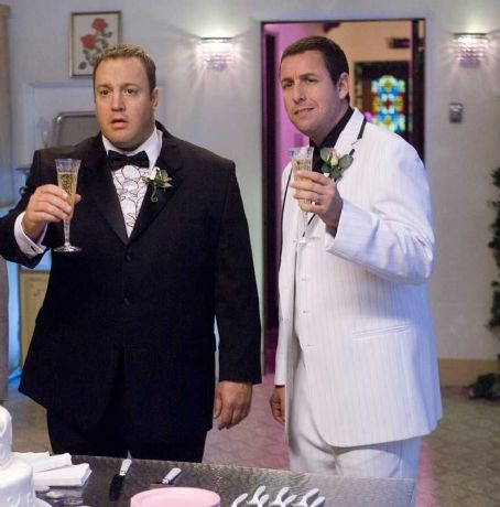 Kevin James Larry () and Chuck (Adam Sandler) in Universal Pictures' I Now Pronounce You Chuck and Larry - 2007