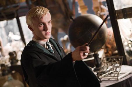 Draco Malfoy TOM FELTON as  in Warner Bros. Pictures' fantasy 'Harry Potter and the Half-Blood Prince. Photo by Jaap Buitendijk. ©2008 Warner Bros. Entertainment Inc. - Harry Potter Publishing Rights © J.K.R.