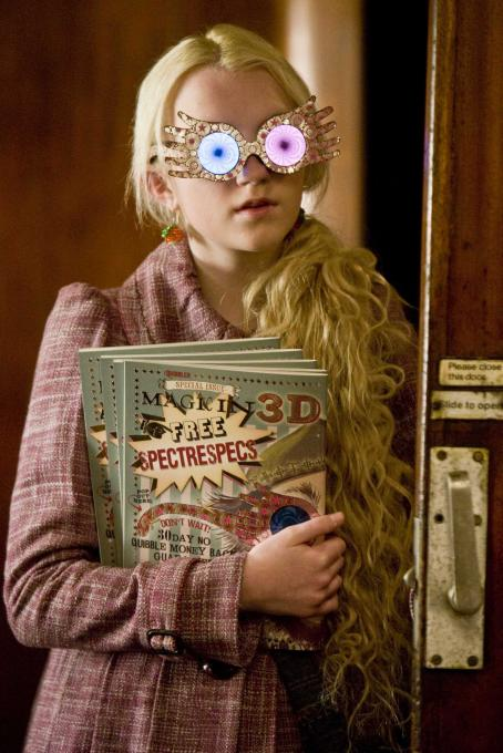 Evanna Lynch EVANNA LYNCH as Luna Lovegood in Warner Bros. Pictures' fantasy 'Harry Potter and the Half-Blood Prince. Photo by Jaap Buitendijk. ©2008 Warner Bros. Entertainment Inc. - Harry Potter Publishing Rights © J.K.R.