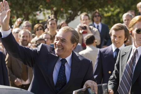 Frank Langella  as Richard Nixon and Michael Sheen as David Frost in Universal Pictures' Frost/Nixon.