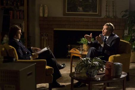 Frank Langella Michael Sheen as David Frost with  as Richard Nixon in Universal Pictures' Frost/Nixon.