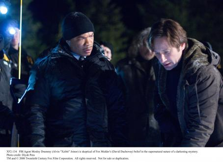 Xzibit  and David Duchovny on the scene from the upcoming mystery 'THE X-FILES: I WANT TO BELIEVE'