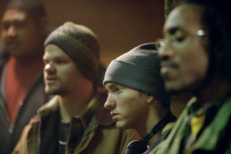 De'Angelo Wilson Omar Benson Miller, Evan Jones, Eminem and De'Angelo Wilson in Universal's 8 Mile - 2002