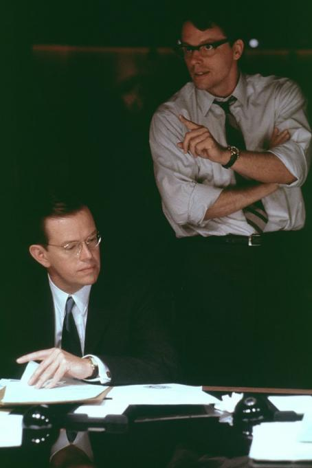Thirteen Days Dylan Baker (Robert McNamara) and Steven Culp (Robert F. Kennedy) in New Line's  - 2000