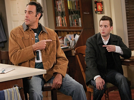 Eddie Kaye Thomas Eddie Stark (Brad Garrett) with Jeff Woodcock () in comedy 'Til' Death (TV Series)'