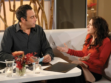 Joely Fisher Eddie Stark (Brad Garrett) with Joy Stark () in comedy 'Til' Death (TV Series)'