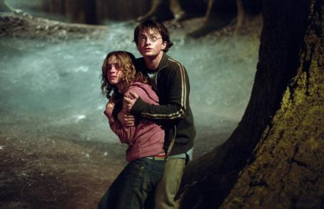 Hermione Granger Emma Watson as , Daniel Radcliffe as Harry Potter in Warner Bros. Pictures' 'Harry Potter and the Prisoner of Azkaban.'