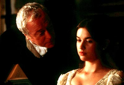 Quills Michael Caine as Dr. Royer Collard and Amelia Warner as Simone in Fox Searchlight's  - 2000