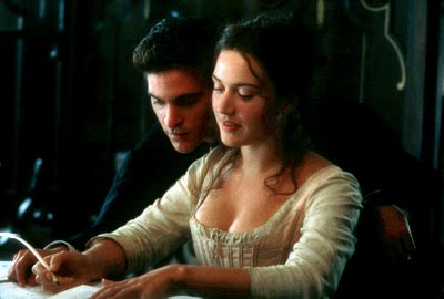 Quills Joaquin Phoenix as Abbe Coulmier and Kate Winslet as Madeleine in Fox Searchlight's  - 2000