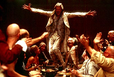 Quills Geoffrey Rush as the Marquis de Sade in Fox Searchlight's  - 2000