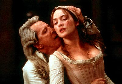 Quills Geoffrey Rush as the Marquis de Sade and Kate Winslet as Madeleine in Fox Searchlight's  - 2000