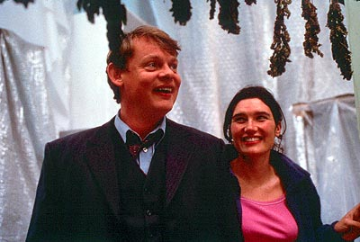 Saving Grace Martin Clunes as Dr. Bamford and Valerie Edmond as Nicky in Fine Line's  - 2000