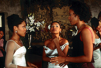 Monica Calhoun , Nia Long and Sanaa Lathan in Universal's The Best Man - 10/99