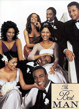 Monica Calhoun (top row) Sanaa Lathan, Melissa DeSousa, Harold Perrineau Jr., Terrence Howard, (center) , Morris Chestnut, (bottom) Nia Long and Taye Diggs The poster for Universal's The Best Man - 10/99