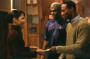 Monica Calhoun , Morris Chestnut and Taye Diggs in Universal's The Best Man - 10/99