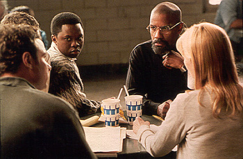 The Hurricane Liev Schreiber, Vicellous Shannon, Denzel Washington and Deborah Unger in Universal's  - 1999