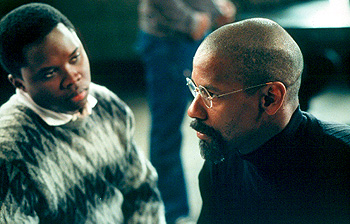 The Hurricane Vicellous Shannon and Denzel Washington in Universal's  - 1999