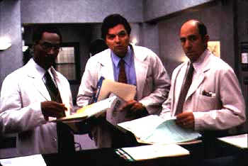 Oliver Platt Eddie Murphy,  and Richard Schiff in 20th Century Fox's Dr Dolittle - 1998