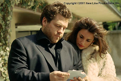 Mirtha Jung Director Ted Demme and Penelope Cruz on the set of New Line's Blow - 2001